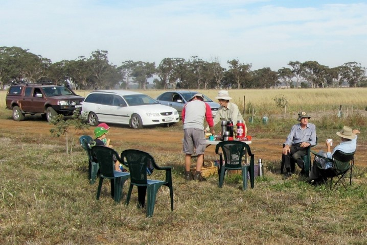 Melton Bushwalkers and other volunteers planting at Pinkerton Link May 2013