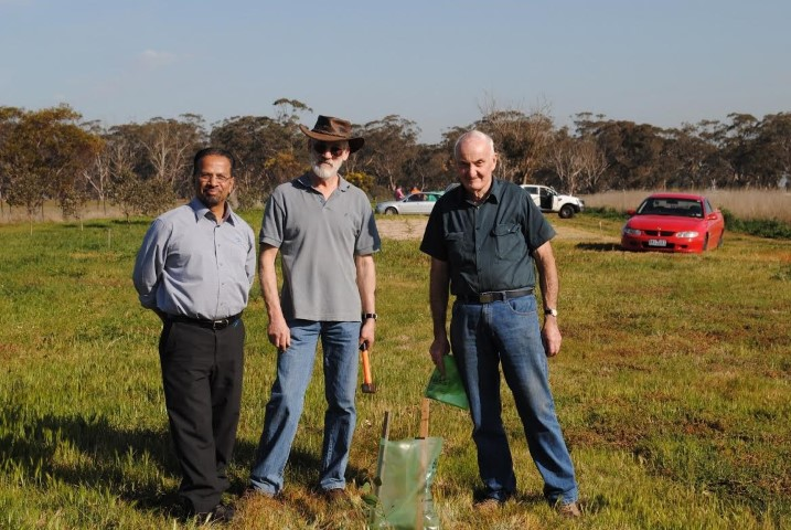 William Rajendram, Kevin Maddigan and retired Westbourne teacher, Chris Binney