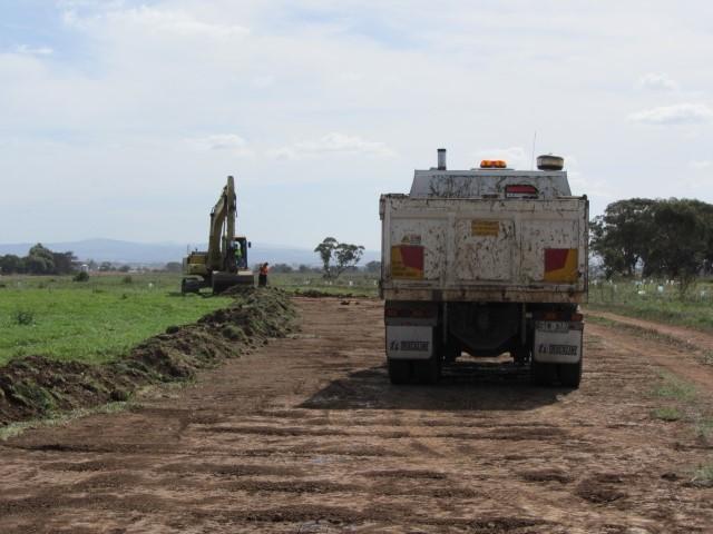 Removing sludge April 2012